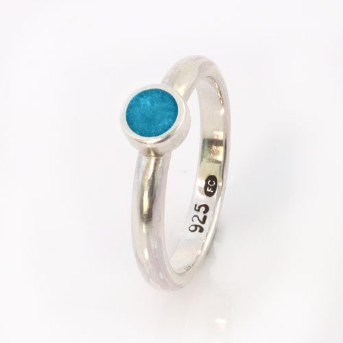 Ashes Jewellery-Elegance Ring - Dec Turquoise
