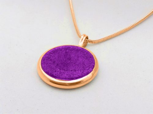 Ashes Jewellery-Missing you pendant - Feb Amethyst