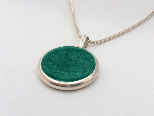 Ashes Jewellery-Missing you pendant - March Aquamarine