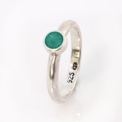 Ashes Jewellery-Elegance Ring - March Aqua