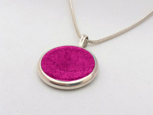 Ashes Jewellery-Missing you pendant - April Pink Diamond
