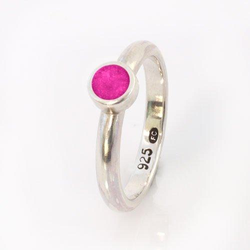 Ashes Jewellery-Elegance Ring - April Pink Diamond