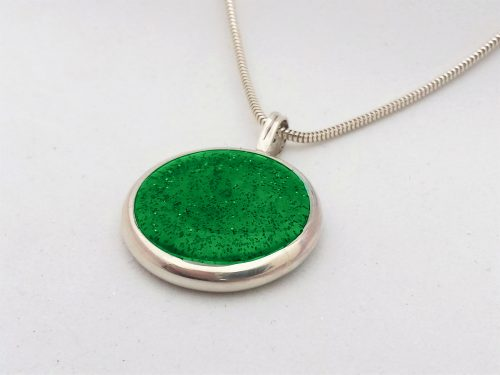 Ashes Jewellery-Missing you pendant - May Emerald