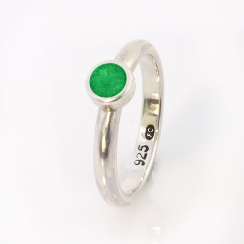 Ashes Jewellery-Elegance Ring - May Emerald