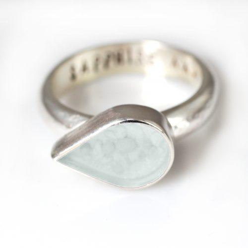 Ashes Jewellery-Teardrop Ring - June Pearl