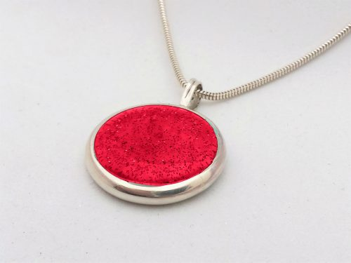 Ashes Jewellery-Missing you pendant - July Ruby