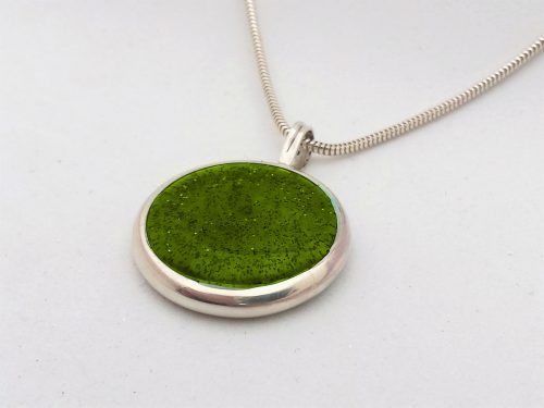 Ashes Jewellery-Missing you pendant - August Peridot