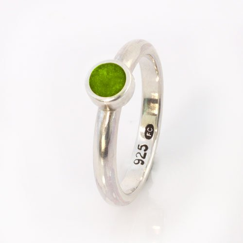 Ashes Jewellery-Elegance Ring - August Peridot