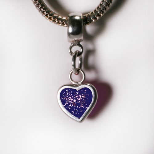 Ashes Jewellery- Heart charm - Sept Sapphire