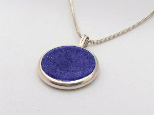 Ashes Jewellery-Missing you pendant - Sept Sapphire