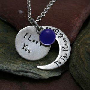 Ashes Jewellery-Moon and back pendant- Sept Sapphire