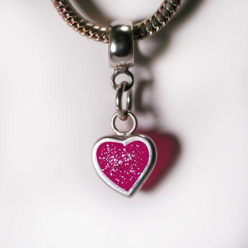 Ashes Jewellery- Heart charm - Oct Tourmaline