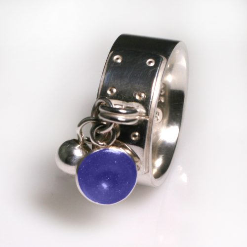 Ashes Jewellery-Tiffany Style Birthstone Ring - Sept Sapphire