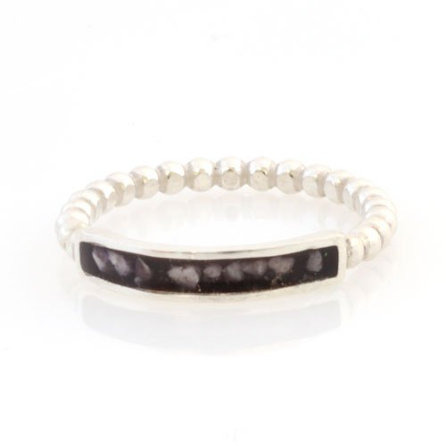 Silver Bubble Ring for pet ashes