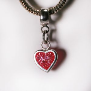 Birthstone Heart Charm for Pandora Bracelet