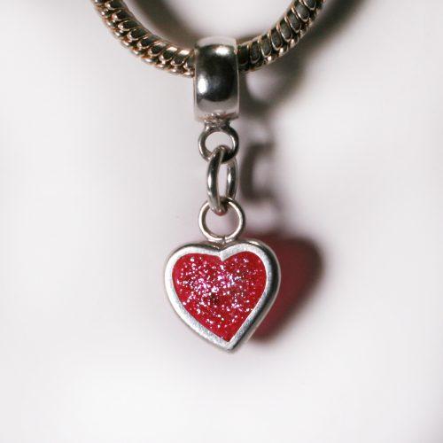 Birthstone Heart Charm for Pandora Bracelet