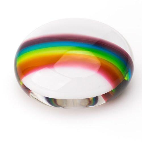 Rainbow Bridge Glass Pebble