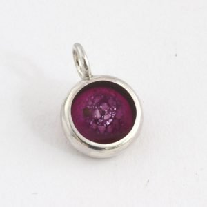 Pet Memorial Charm - Silver and Amethyst
